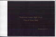 Page 1, 1940 Edition, Maplewood Middle School - Yearbook (Maplewood, NJ) online yearbook collection