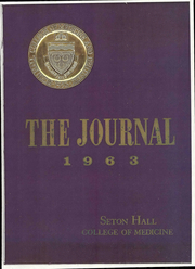 Page 1, 1963 Edition, Seton Hall College of Medicine - Journal Yearbook (Jersey City, NJ) online yearbook collection