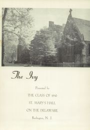 Page 5, 1940 Edition, St Marys Hall - Ivy Yearbook (Burlington, NJ) online yearbook collection