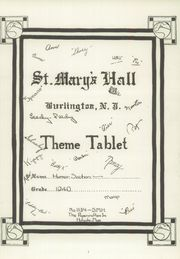 Page 9, 1940 Edition, St Marys Hall - Ivy Yearbook (Burlington, NJ) online yearbook collection