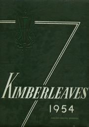 Page 1, 1954 Edition, Kimberley School - Kimberleaves Yearbook (Montclair, NJ) online yearbook collection