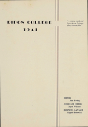 Page 2, 1941 Edition, Ripon College - Crimson Yearbook (Ripon, WI) online yearbook collection
