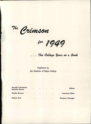 Page 7, 1949 Edition, Ripon College - Crimson Yearbook (Ripon, WI) online yearbook collection