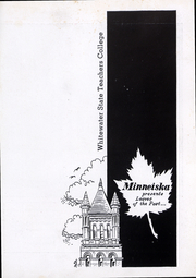 Page 4, 1948 Edition, University of Wisconsin Whitewater - Minneiska Yearbook (Whitewater, WI) online yearbook collection