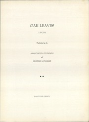 Page 7, 1936 Edition, Linfield College - Oak Leaves Yearbook (McMinnville, OR) online yearbook collection