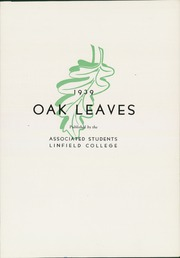 Page 7, 1939 Edition, Linfield College - Oak Leaves Yearbook (McMinnville, OR) online yearbook collection