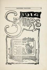 Page 15, 1914 Edition, McKendree University - McKendrean Yearbook (Lebanon, IL) online yearbook collection