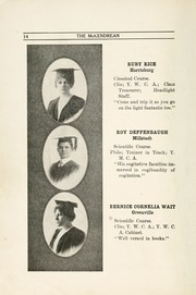 Page 16, 1914 Edition, McKendree University - McKendrean Yearbook (Lebanon, IL) online yearbook collection