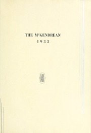 Page 5, 1933 Edition, McKendree University - McKendrean Yearbook (Lebanon, IL) online yearbook collection