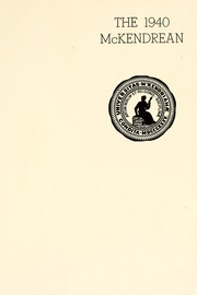 Page 5, 1940 Edition, McKendree University - McKendrean Yearbook (Lebanon, IL) online yearbook collection