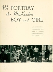Page 7, 1940 Edition, McKendree University - McKendrean Yearbook (Lebanon, IL) online yearbook collection