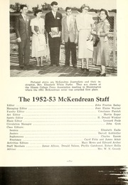 Page 11, 1953 Edition, McKendree University - McKendrean Yearbook (Lebanon, IL) online yearbook collection