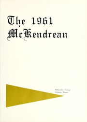 Page 5, 1961 Edition, McKendree University - McKendrean Yearbook (Lebanon, IL) online yearbook collection
