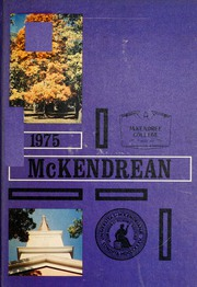 Page 1, 1975 Edition, McKendree University - McKendrean Yearbook (Lebanon, IL) online yearbook collection