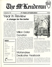 McKendree University - McKendrean Yearbook (Lebanon, IL) online yearbook collection, 1984 Edition, Page 1