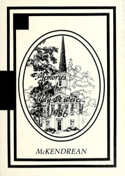Page 1, 1986 Edition, McKendree University - McKendrean Yearbook (Lebanon, IL) online yearbook collection
