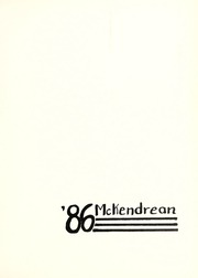Page 3, 1986 Edition, McKendree University - McKendrean Yearbook (Lebanon, IL) online yearbook collection
