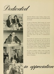 Page 16, 1956 Edition, East Carolina University - Buccaneer Tecoan Yearbook (Greenville, NC) online yearbook collection