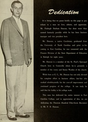 Page 14, 1957 Edition, East Carolina University - Buccaneer Tecoan Yearbook (Greenville, NC) online yearbook collection