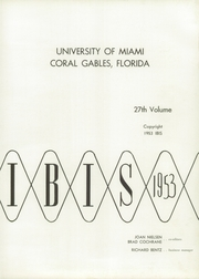 Page 5, 1953 Edition, University of Miami - Ibis Yearbook (Coral Gables, FL) online yearbook collection