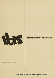 Page 2, 1967 Edition, University of Miami - Ibis Yearbook (Coral Gables, FL) online yearbook collection