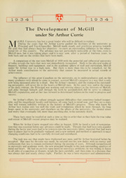 Page 15, 1934 Edition, McGill University - Old McGill Yearbook (Montreal Quebec, Canada) online yearbook collection