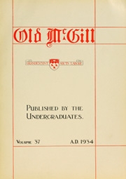 Page 7, 1934 Edition, McGill University - Old McGill Yearbook (Montreal Quebec, Canada) online yearbook collection