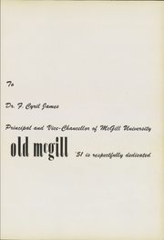 Page 9, 1951 Edition, McGill University - Old McGill Yearbook (Montreal Quebec, Canada) online yearbook collection