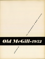 Page 5, 1952 Edition, McGill University - Old McGill Yearbook (Montreal Quebec, Canada) online yearbook collection