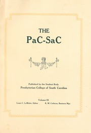 Page 5, 1922 Edition, Presbyterian College - Pac Sac Yearbook (Clinton, SC) online yearbook collection