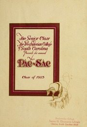 Page 5, 1923 Edition, Presbyterian College - Pac Sac Yearbook (Clinton, SC) online yearbook collection