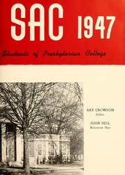 Page 7, 1947 Edition, Presbyterian College - Pac Sac Yearbook (Clinton, SC) online yearbook collection