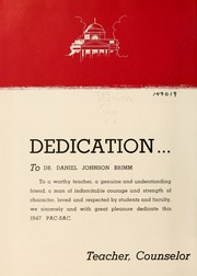 Page 8, 1947 Edition, Presbyterian College - Pac Sac Yearbook (Clinton, SC) online yearbook collection
