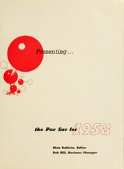 Page 5, 1958 Edition, Presbyterian College - Pac Sac Yearbook (Clinton, SC) online yearbook collection