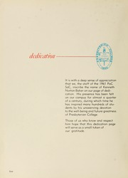 Page 8, 1961 Edition, Presbyterian College - Pac Sac Yearbook (Clinton, SC) online yearbook collection