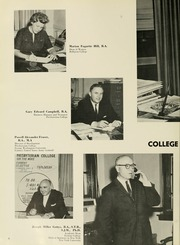Page 10, 1965 Edition, Presbyterian College - Pac Sac Yearbook (Clinton, SC) online yearbook collection