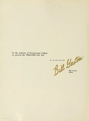 Page 6, 1965 Edition, Presbyterian College - Pac Sac Yearbook (Clinton, SC) online yearbook collection