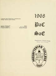 Page 5, 1968 Edition, Presbyterian College - Pac Sac Yearbook (Clinton, SC) online yearbook collection