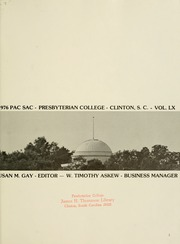 Page 5, 1976 Edition, Presbyterian College - Pac Sac Yearbook (Clinton, SC) online yearbook collection