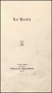 Page 9, 1915 Edition, Albuquerque High School - La Reata Yearbook (Albuquerque, NM) online yearbook collection