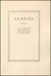 Page 5, 1921 Edition, Albuquerque High School - La Reata Yearbook (Albuquerque, NM) online yearbook collection