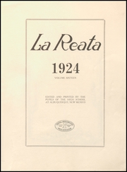 Page 5, 1924 Edition, Albuquerque High School - La Reata Yearbook (Albuquerque, NM) online yearbook collection