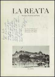 Page 6, 1940 Edition, Albuquerque High School - La Reata Yearbook (Albuquerque, NM) online yearbook collection