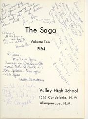 Page 7, 1964 Edition, Valley High School - Saga Yearbook (Albuquerque, NM) online yearbook collection