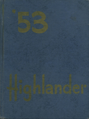 Page 1, 1953 Edition, Highland High School - Highlander Yearbook (Albuquerque, NM) online yearbook collection