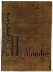Highland High School - Highlander Yearbook (Albuquerque, NM) online yearbook collection, 1955 Edition, Page 1