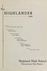 Page 11, 1956 Edition, Highland High School - Highlander Yearbook (Albuquerque, NM) online yearbook collection