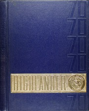 Page 1, 1970 Edition, Highland High School - Highlander Yearbook (Albuquerque, NM) online yearbook collection