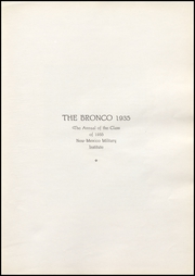Page 9, 1935 Edition, New Mexico Military Institute - Bronco Yearbook (Roswell, NM) online yearbook collection