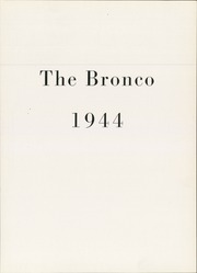 Page 5, 1944 Edition, New Mexico Military Institute - Bronco Yearbook (Roswell, NM) online yearbook collection